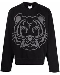 KENZO Graphic-print long-sleeve sweatshirt - Nero