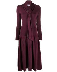Ferragamo V-neck Knitted Dress - Purple