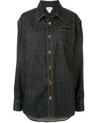 Bottega Veneta Denim Buttoned Overshirt - Blue