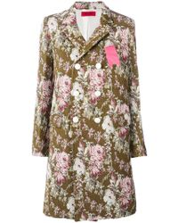 The Gigi - Floral Double-breasted Coat - Lyst