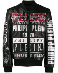 Philipp Plein - ロゴ ボンバージャケット - Lyst