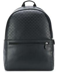 Emporio Armani Embossed Eagle Logo Backpack - Black
