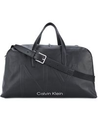 Calvin Klein Reisetasche mit Logo - Schwarz