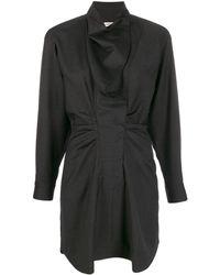 Étoile Isabel Marant Gathered front mini dress - Negro