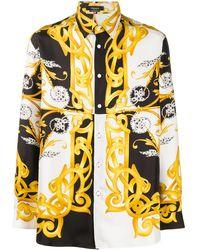 Versace Camisa con estampado gráfico - Blanco