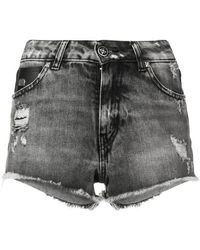 John Richmond - Bronx Denim Shorts - Lyst