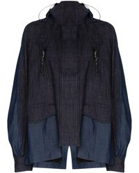 Angel Chen Embroidered Fish Zip-up Jacket - Blue