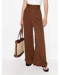 St. Agni Pantalones de vestir Lola anchos - Marrón