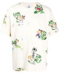 PUMA プリント Tシャツ - マルチカラー