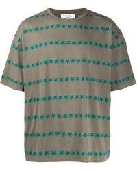 YMC スタープリント Tシャツ - グリーン
