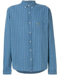 Lacoste L!ive - Micro-pattern Logo Patch Shirt - Lyst