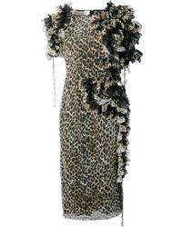 Antonio Marras レオパード ドレス - ブラック