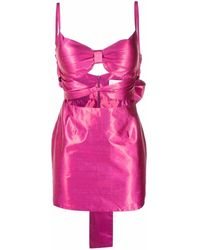 Loulou Cut-detail Fitted Silk Dress - Pink