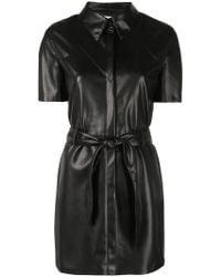 Nanushka - Roberta Faux Leather Dress - Lyst