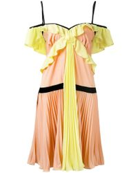 Marco Bologna - Crepe Georgette Pleated Dress - Lyst