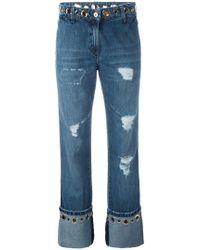 distressed flared jeans - Blue Blumarine ardZlTdk4h
