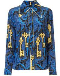 Karen Walker Ara Shirt - Blue