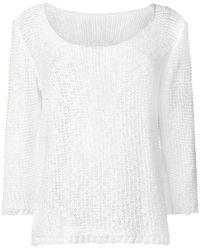 Charlott Fine Knit Sweater - White