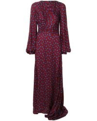 House of Holland - Polka Dot Ruched Maxi Dress - Lyst