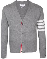 Thom Browne Cardigan mit Streifen - Grau