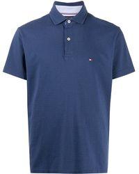 Tommy Hilfiger ロゴ ポロシャツ - ブルー