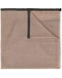 N.Peal Cashmere - コントラストトリム スカーフ - Lyst