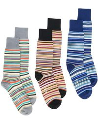 Paul Smith - Striped Socks 3 Pack - Lyst