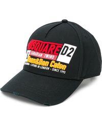 DSquared² Cappello da baseball con ricamo - Nero