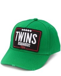 DSquared² Cappello da baseball Twins - Verde