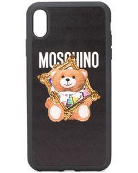 Moschino Coque Teddy Bear pour iPhone X Max - Noir