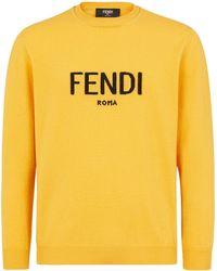 Fendi Джемпер С Круглым Вырезом И Логотипом - Желтый