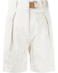 Fabiana Filippi Crinkled Shorts - White