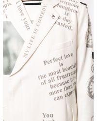 TAKAHIROMIYASHITA TheSoloist. Blazer à slogan imprimé - Blanc