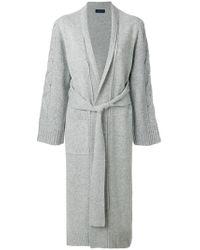 Eudon Choi - Tie Waist Cardi-coat - Lyst