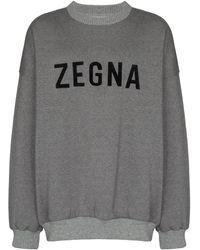 Ermenegildo Zegna ロゴ スウェットシャツ - グレー