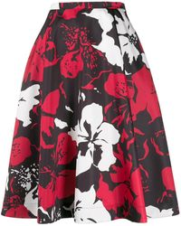 N°21 Floral print flared skirt - Nero