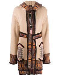 Etro Кардиган-пальто Вязки Интарсия С Капюшоном - Многоцветный