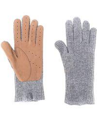 Brunello Cucinelli Fijngebreide Handschoenen - Grijs