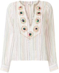 Manoush | Embroidered Striped Shirt | Lyst