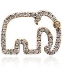 Yvonne Léon - Elephant 18k Gold Diamond Earring - Lyst