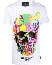 Philipp Plein - T-Shirt mit Totenköpfen - Lyst
