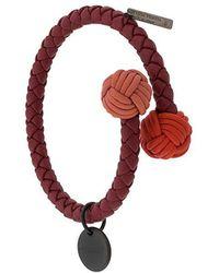 Bottega Veneta - Intrecciato Open Bracelet - Lyst