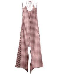 Eckhaus Latta Double Check-print Dress - Pink