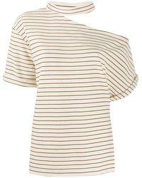 Erika Cavallini Semi Couture - ストライプ Tシャツ - Lyst