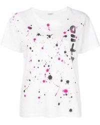 P.A.R.O.S.H. - T-shirt à effet taches de peinture - Lyst
