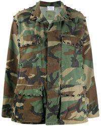 P.A.R.O.S.H. Commando Camouflage-print Jacket - グリーン