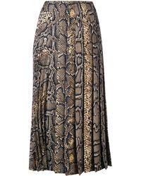 Victoria Beckham - Pleated Midi Skirt High - Lyst