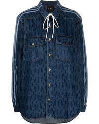 adidas X Ivy Park Monogram Denim Shirt - Blue