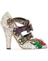 Dolce & Gabbana - Buckle Strap Embellished Court Shoes - Lyst