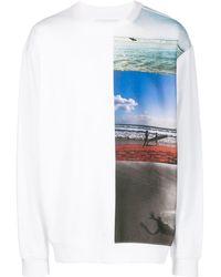 Calvin Klein Sweatshirt mit Surfer-Print - Weiß
